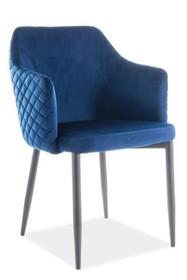 Krzesło ASTOR VELVET - granatowy Bluvel 86