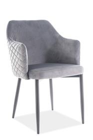 Krzesło ASTOR VELVET - szary Bluvel 14