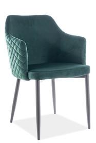 Krzesło ASTOR VELVET - zielony Bluvel 78