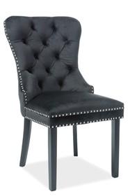 Krzesło AUGUST VELVET - czarny Bluvel 19