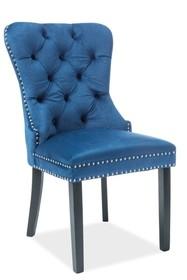 Krzesło AUGUST VELVET - granatowy Bluvel 86