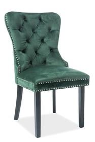 Krzesło AUGUST VELVET - zielony Bluvel 78