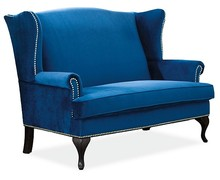 Sofa BENJAMIN 2 VELVET - granatowy