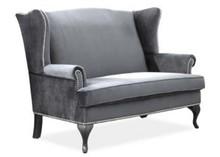 Sofa BENJAMIN 2 VELVET - szary