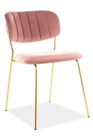 Krzesło CARLO VELVET - antyczny róż