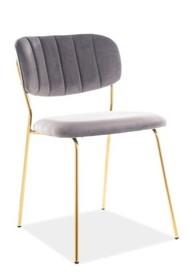 Krzesło CARLO VELVET - szary