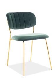 Krzesło CARLO VELVET - zielony