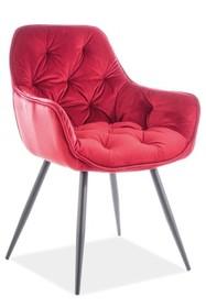 Krzesło CHERRY VELVET - bordowy Bluvel 59