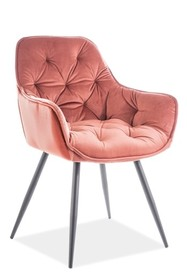 Krzesło CHERRY VELVET - róż Bluvel 52