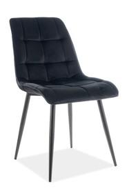 Krzesło CHIC VELVET - czarny Bluvel 19