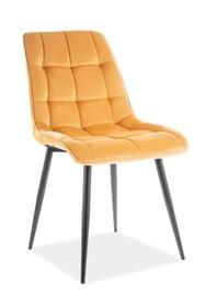 Krzesło CHIC VELVET - żółty Bluvel 68