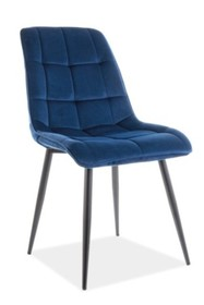 Krzesło CHIC VELVET - granatowy Bluvel 86