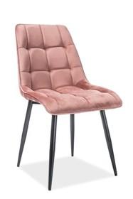 Krzesło CHIC Velvet - róż antyczny bluvel 52