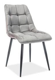 Krzesło CHIC VELVET - szary Bluvel 14