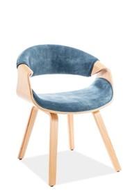 Krzesło DAKOTA VELVET - morski