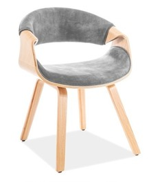 Krzesło DAKOTA Velvet - szary