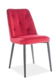 Krzesło DURAN VELVET - bordowy Bluvel 59
