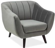 Fotel ELITE 1 velvet - szary Bluvel 14
