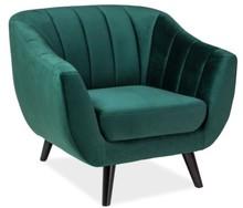 Fotel ELITE 1 velvet - zielony Bluvel 78