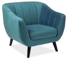 Fotel ELITE 1 velvet - turkusowy Bluvel 85
