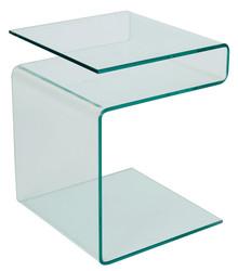 Ława szklana EPI 42x38 - transparentny