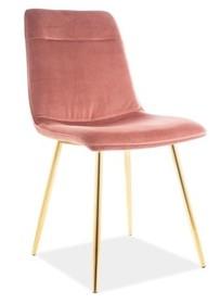 Krzesło EROS VELVET - antyczny róż Bluvel 52
