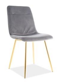 Krzesło EROS Velvet - szary Bluvel 14