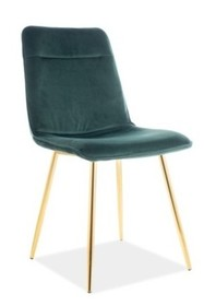 Krzesło EROS VELVET - zielony Bluvel 78