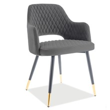 Krzesło FRANCO VELVET - szary Bluvel 14