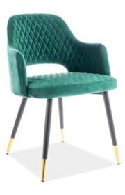 Krzesło FRANCO VELVET - zielony Bluvel 78
