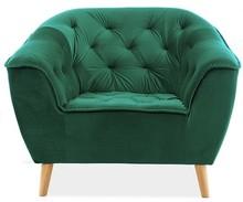 Fotel GALAXY 1 VELVET - zielony Bluvel 78