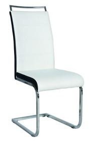 Krzesło H-441 ekoskóra - biały/czarny