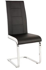 Krzesło H-629 - czarny/biały