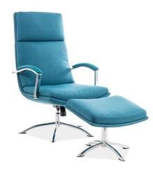 Fotel z podnóżkiem JEFFERSON - turkusowy