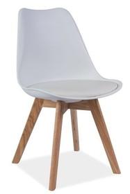 Krzesło KRIS - dąb/białe