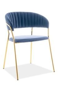 Krzesło LIRA VELVET - granatowy