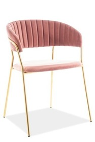 Krzesło LIRA VELVET - różowy