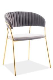 Krzesło LIRA VELVET - szary