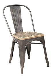Krzesło LOFT drewno - orzech/grafit