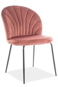 Krzesło LOLA VELVET - różowy Bluvel 52