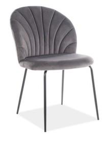 Krzesło LOLA VELVET - szary