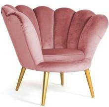 Fotel MAGNOLIA 1 velvet - złoty/antyczny róż Bluvel 52