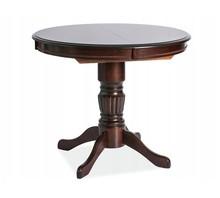 Stół rozkładany okrągły MARGO 90/125x90 - ciemny orzech