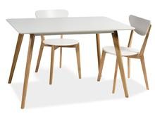 Stół MILAN 120x80 - biały/dąb