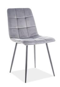 Krzesło MILA VELVET - szary Bluvel 14