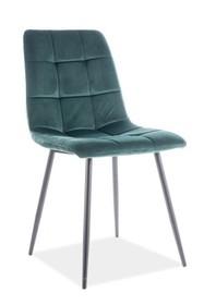 Krzesło MILA VELVET - zielony Bluvel 78