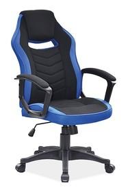 Fotel obrotowy CAMARO - czarny/niebieski