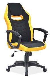 Fotel obrotowy CAMARO - czarny/żółty