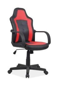 Fotel obrotowy CRUZ - czarny/czerwony