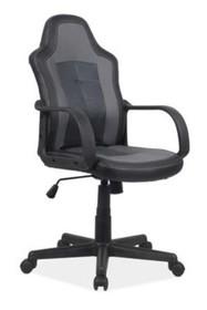 Fotel obrotowy CRUZ - czarny/szary